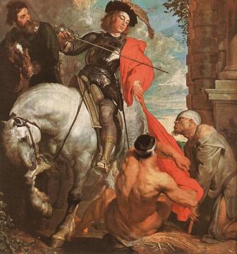 VanDyck, St Martin Dividing his Cloak c1618.jpg